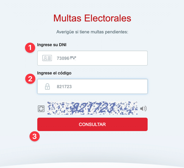 buscar Multas Electorales onpe dni